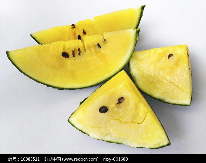黄瓤西瓜拍摄图片