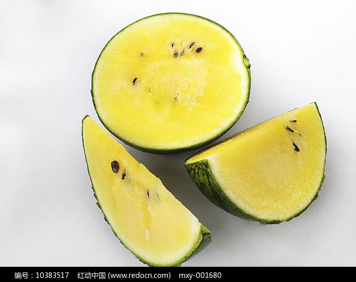 切黄瓤西瓜图片