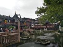 上海豫园九曲桥图
