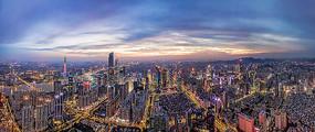 广州夜景城市风光