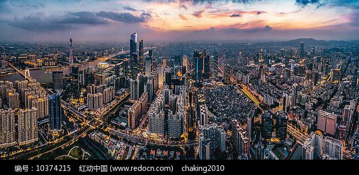 广州夜景航拍图片