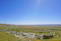 黄河第一湾及藏族村寨俯瞰