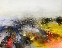 横版抽象油画