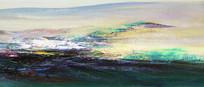 意境风景山水抽象油画