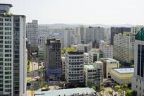 韩国水原市城市俯拍