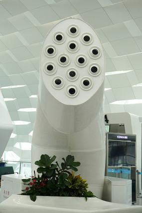 空调树末端莲蓬造型设计