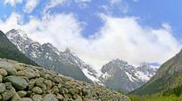 阿坝毕棚沟雪山群峰自然风光