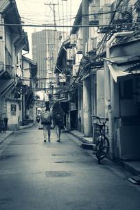 老上海街巷背影