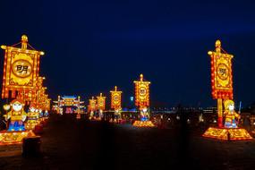 明朝古都的春节花灯