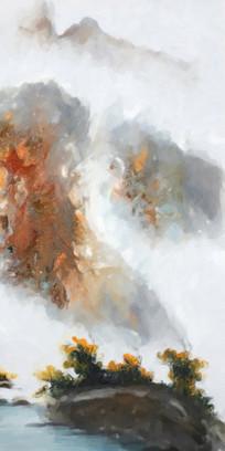 山水抽象油画