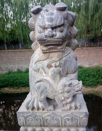 动物石雕石狮子