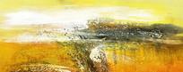 横幅抽象手绘画