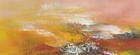 笔触抽象油画