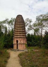 寺庙古塔建筑