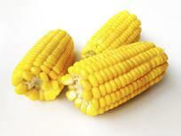 特写甜玉米