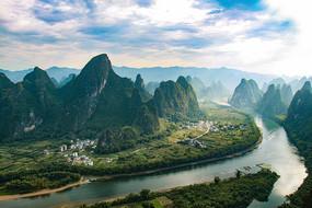 桂林漓江相公山航拍
