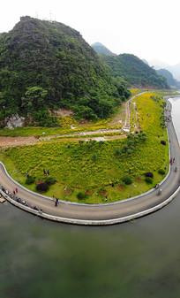 航拍桂林新两江四湖