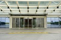 现代建筑门庭及玻璃门