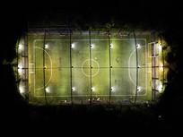 足球场夜景航拍上帝视角