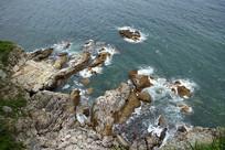 深圳大甲岛礁石和海水