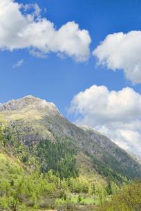青藏高原群山及山谷自然风光2