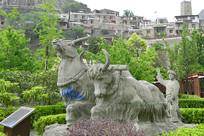 四川甘堡寨藏族山地耕作雕塑
