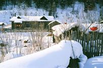 东北原始农家小院