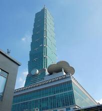 台湾101大楼仰拍