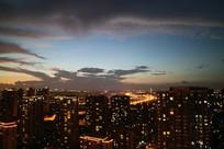 美妙的云彩晚霞