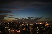 俯瞰苏州城灯火楼宇