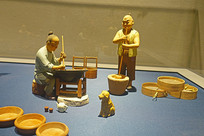 古代琢玉流程雕塑—捣砂和研浆