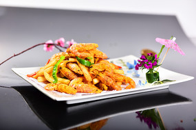 南瓜薯条虾