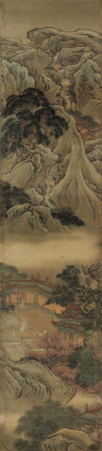 清代袁耀蓬莱仙境图屏五