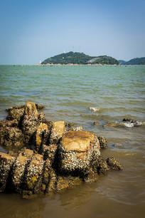 汕头妈屿岛海滨浴场岩石