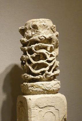 明故宫石雕龙纹柱头