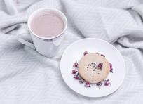 奶茶鲜花饼