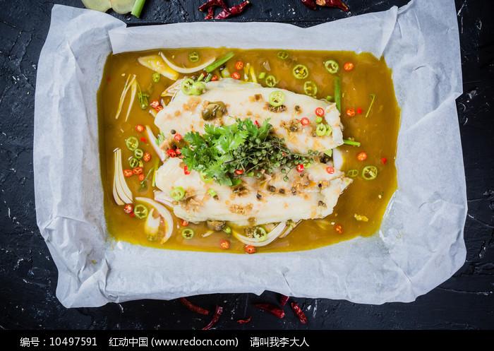 激情椒麻纸包鱼图片