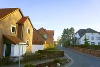 欧洲德国汉诺威小城镇房子