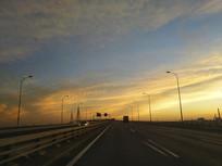 霞光道桥景