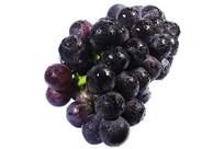 一串美味新鲜黑紫大葡萄