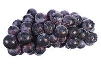 一串水平放置的黑紫大葡萄