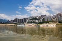 重庆巫山县城全貌