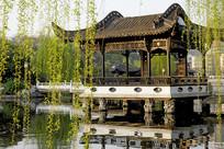 包河公园的江南园林曲榭亭桥