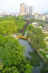 合肥城市建筑及包河公园俯拍