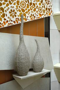 建筑室内墙面装饰及雕塑摆件