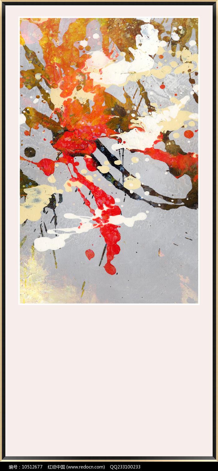 玄关现代抽象油画图片