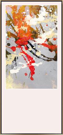 玄关现代抽象油画