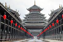 三江风雨桥正面