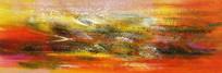 油彩抽象现代壁画