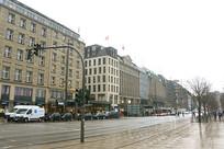 德国汉堡城市街道及街景